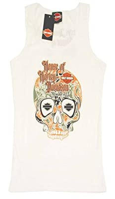 Harley-Davidson Women's Limited Edition 110th White Skull Tank Top. 302962660 from HouseOfHarley