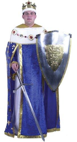 Men's Mardi Gras King Halloween Costume (Size: