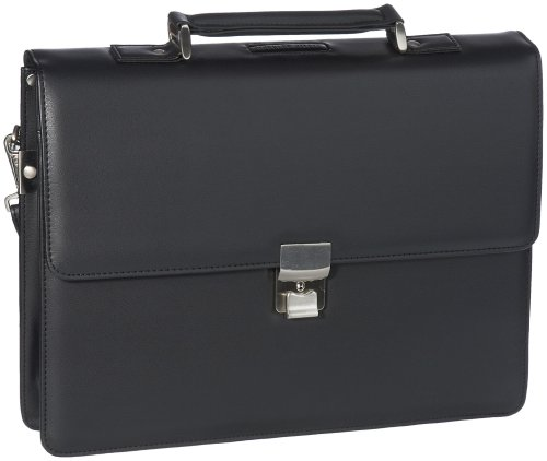Leonhard Heyden Unisex Adult Lh4302 Pu Briefcase Briefcase Work Bag Black Lh4302-001