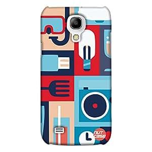 Retro Elements (Blue) - Nutcase Designer Sasmsung Galaxy S4 MINI Case Cover