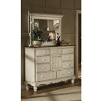 Hot Sale Traditional Mule Chest w 9 Drawers & Antique White Finish - Wilshire