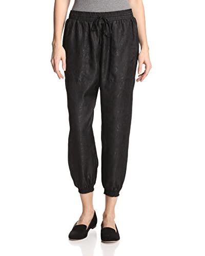 Anna Sui Women's Embossed Jacquard Drawstring Pants