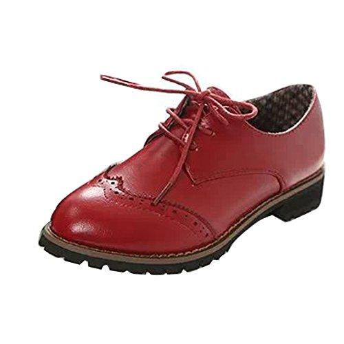Gaorui scarpe donna/ragazza francesine parigine stringate oxford suola trasparente shoe