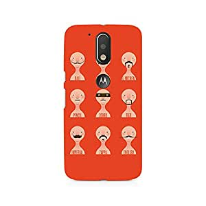 NXT GEN Types of Beard Premium Printed Mobile Back Case For Moto G4/G4 Plus