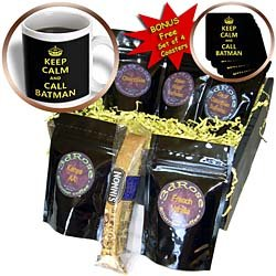 EvaDane - Funny Quotes - Keep calm and call batman. - Coffee Gift Baskets - Coffee Gift Basket by 3dRose LLC