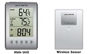 AcuRite Digital Wireless Weather Thermometer Indoor/Outdoor, 00604