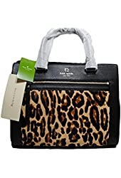 Kate Spade New York Black Romy Satchel Leopard Cross Body Bag