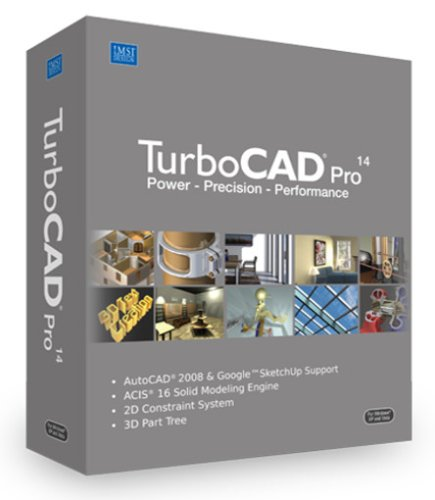 Turbocad Professional V14 Precision 2D Drafting 3D Modeling [Old Version]