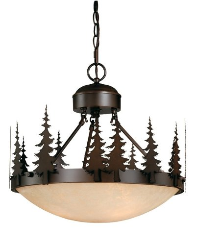 Vaxcel Lighting Cf55518 Yosemite 3 Light Semi-Flush Ceiling Fixture, Burnished Bronze