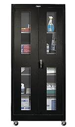 800 Series 2 Door Storage Cabinet Color: Midnight Ebony