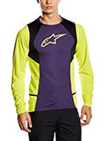 Alpinestar Cycling Camiseta Manga Larga Drop 2 (Violetto/Giallo)