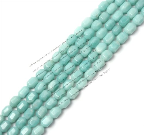 Sweet & Happy Girl'S Store 8X12Mm Faceted Amazonite Gemstone Beads Strand 15