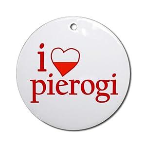 I Love Pierogi Ornament Round Round Ornament