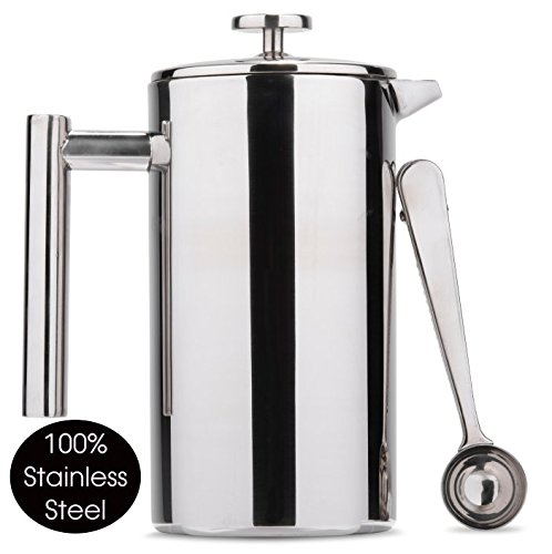 Es Perto Stainless Steel French Press Coffee Maker