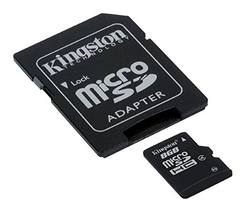 Kingston SDC4/8GB microSDHC Karte - Klasse 4 - 8GB mit SD-Adapter