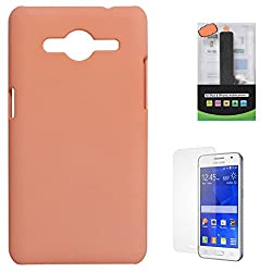 DMG Protective Hard Back Cover Case For Samsung Galaxy Core 2 SM-G355H (Pink) + 2600 mAh PowerBank + Matte Screen