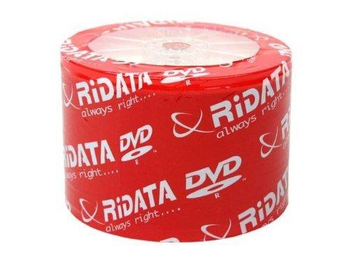 50 Ritek Ridata 8X DVD-R 4.7GB White Inkjet Hub Printable