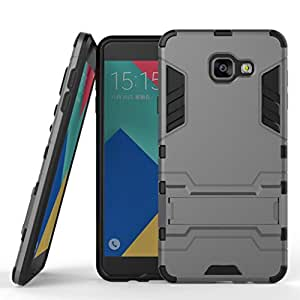 Defender back case cover with bracket stand for Samsung Galaxy A710 / A7 2016 - Grey