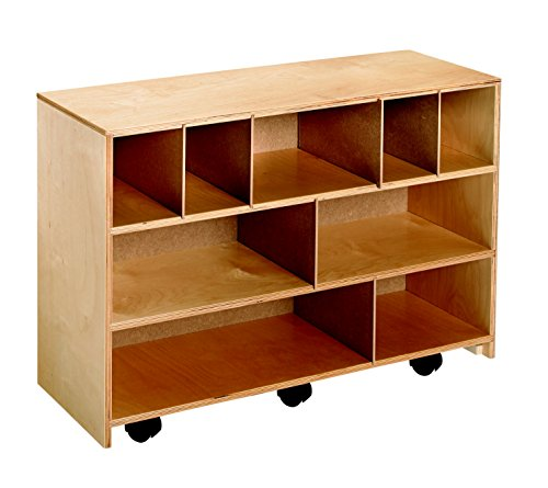 Childcraft 205879 Mobile Block Storage Cabinet Wood 35 3