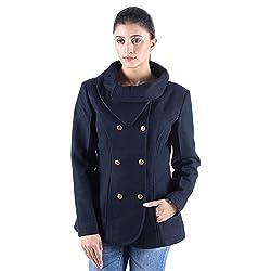 Dark navy double breasted wool coat 6