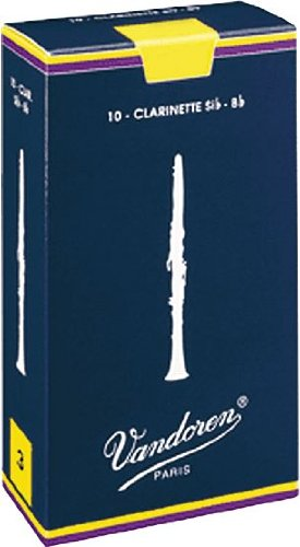 Vandoren Traditional Bb Clarinet Reeds #4, Box