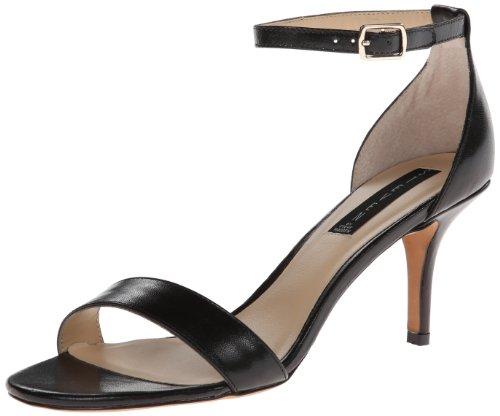 STEVEN by Steve Madden Women's Viienna Dress Sandal,Black Leather,8