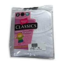 Hanes - Toddler Girls 2 Pack Camis, GTUVWH, White 19016-4
