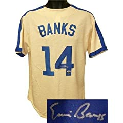 Ernie Banks Signed Uniform - Cream Cooperstown Collection PSA Hologram - Autographed... by Sports Memorabilia