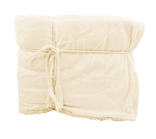 "Super Soft And Cozy Lambswool Microsherpa Throw Blanket (50"" X 60"") - Vanilla front-632998"