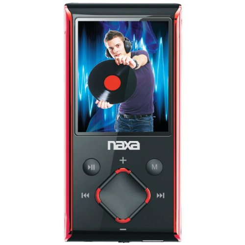 Naxa Nmv-173 Portable Media Player With 1.8-Inch Lcd Screen, Built-In 4Gb Flash Memory And Sd Card Slot (Red)