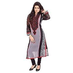Radhya Women's Unstiched Kurti (Pan01_Multi Color)