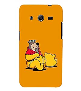 PRINTSWAG BEAR WITH DRINK Designer Back Cover Case for SAMSUNG GALAXY CORE 2 G355H