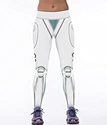 iSweven White Wild Design Printed Polyester Multicolor Yoga pant Tight legging for womens girls