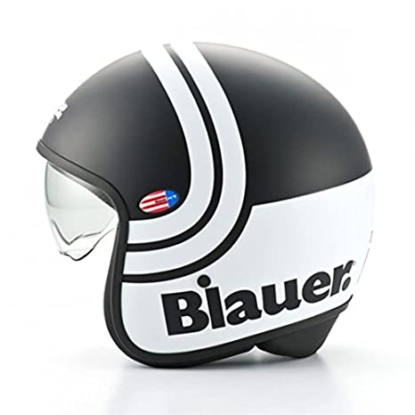 Casque blauer pilot 2.0 noir/blanc mat stripes xl - Blauer BLCJ112XL