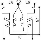 YKKAP窓サッシ 部材 ガラスビート カット品:9mm開口・ガラス厚2mm・3mm用(K-6429)1m [YS]シルバー