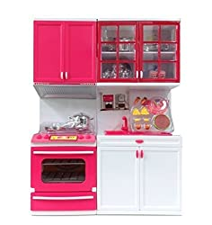 Battery Operated Kitchen Play Set with Cooktop