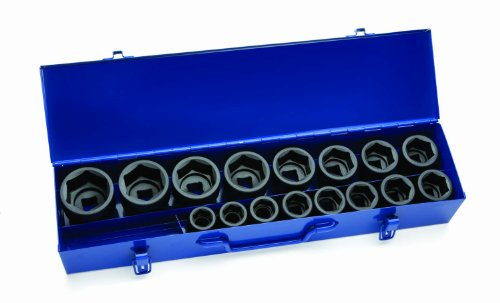 Jh Williams 38901 17-Piece 3/4-Inch Drive Shallow 6 Point Socket Set