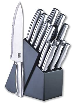 Cook N Home 15-Piece Stainless-Stee​l Cutlery Set with Storage Block