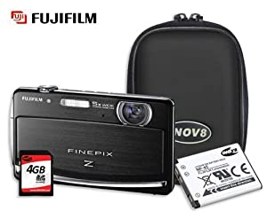 Fujifilm Black Z90 14 Megapixel Digital Camera with INOV8 Case, NP-45 Rechargeable Battery & 4GB Class 4 SDHC