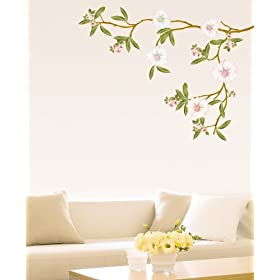 Easy Instant Decoration Wall Sticker Decal - Blossoming Flowers