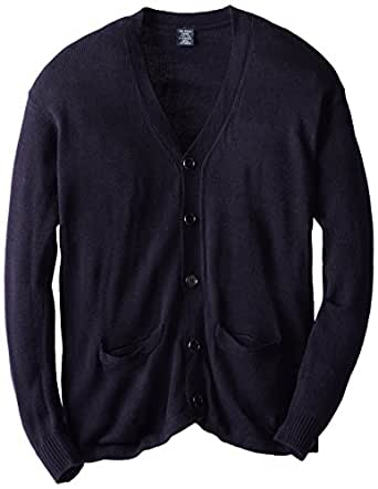 U.S. Polo Association School Uniform Big Boys' V-Neck Cardigan Sweater, Navy, 8