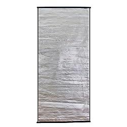 【すだれ サンシェード 遮光】省エネ&エコ アルミ加工の断熱すだれ 90×198cm シルバー (A530-S1)