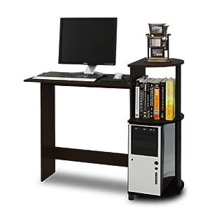 Furinno 11181EX/BK (10015E) Compact Computer Desk, Espresso/Black