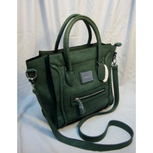 A stunning square tote that serves well for business and personal use. Faux Leather material.