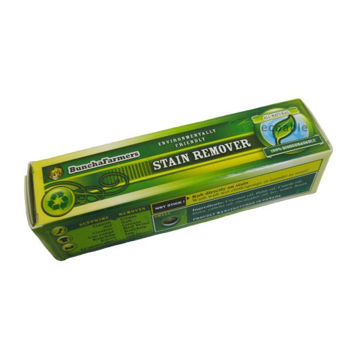 Buncha Farmers Stain Remover Stick Works On Blood/ Wine/ Grease/ Ink/ Berry By Ecoable (1 Stick)