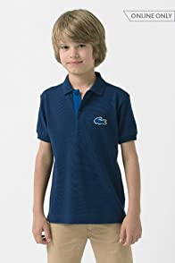 Boy's Short Sleeve Pique Polo with Terry Croc
