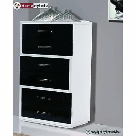 Homestyle4u Schrank Kommode Flur Sideboard Möbel Holz 6 Fächer