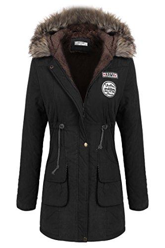 Angvns Donna inverno spessore caldo cappotto con cappuccio piumino