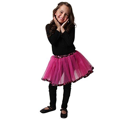 Girls Hot Pink & Black Polka Dot Tutu - 1