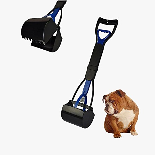 Ufine Pet Dog Pooper Scooper Clean Pickup Clip Scoop Yard Cleaner Animal Pets Dog Cat Waste Pickup (Blue) (Jaw Pet Company compare prices)